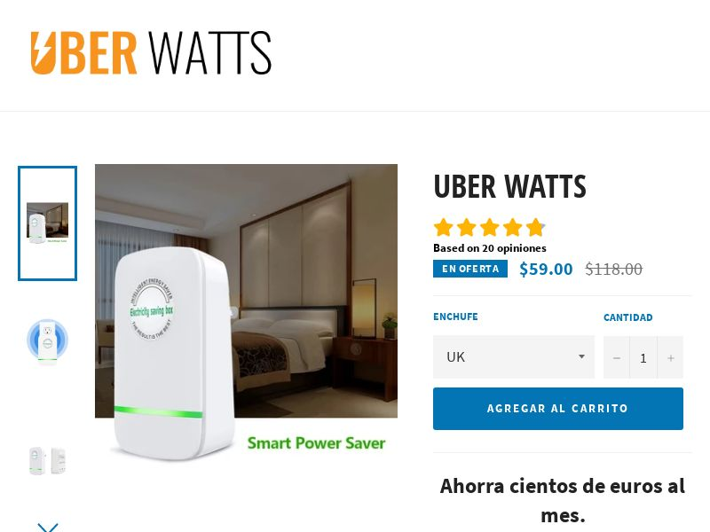 Uber Watts - #1 Smart Power Saver - CPA - [22 GEOs]