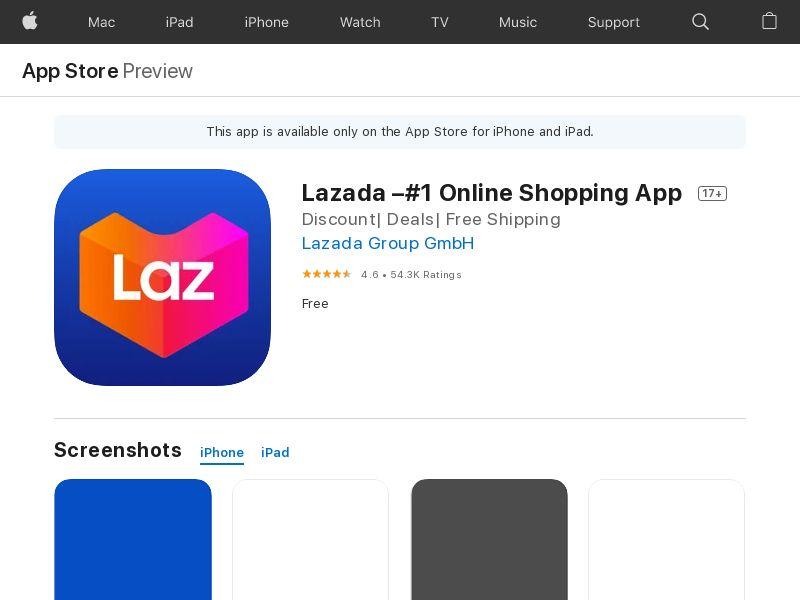 Lazada iOS ID CPI