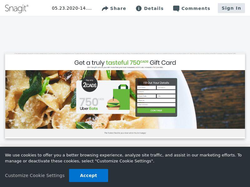 Uber Eats 500€ Gift Card | FR