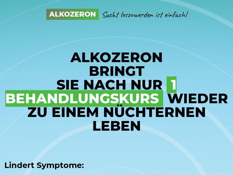 Alkozeron DE - alcoholism treatment product