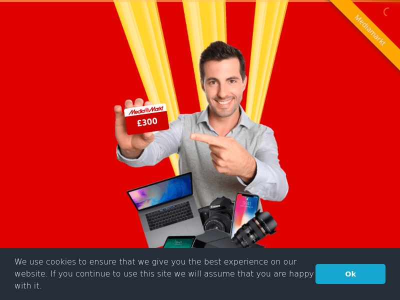 Media Markt - £300 voucher - UK (GB), [CPL], Lotteries and Contests, Appliances and Electronics, Hardware, Telephones and accessories, Audio and video, Household goods, Single Opt-In, paypal, survey, gift, gift card, free, amazon, shop, gift