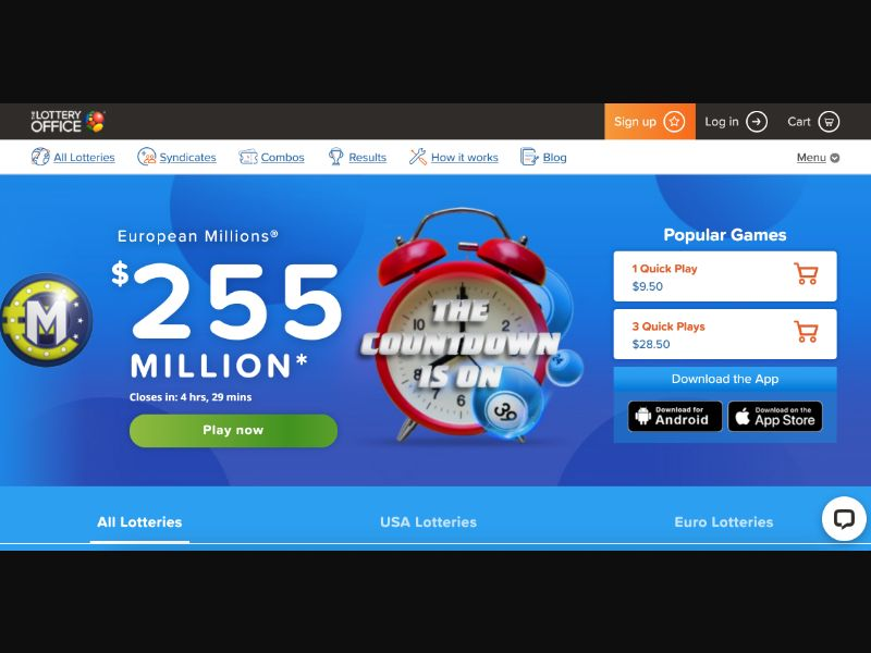 Lottery Office - CC Submit - AU - Gambling - Responsive
