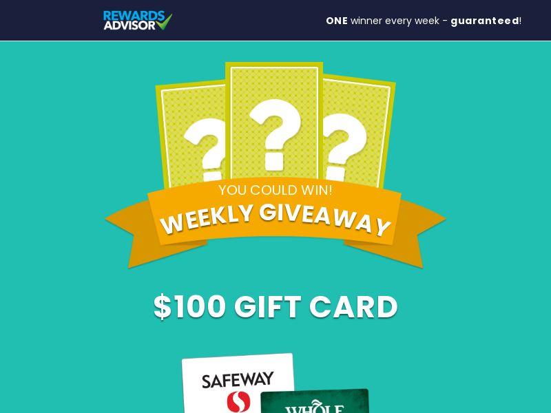 Reward Advisor - $100 Grocery - Mobile and Desktop - US - CPL - Incent OK