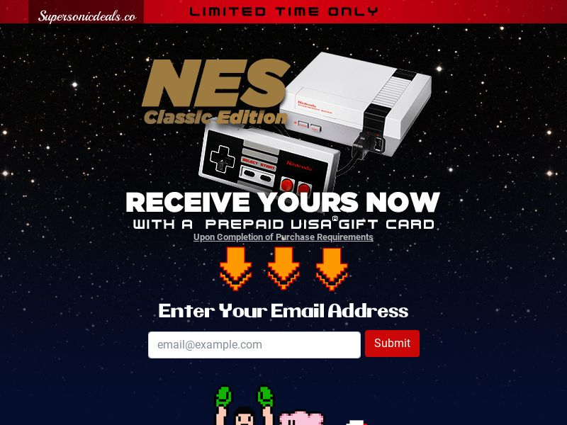 SuperSonicDeals NES Classic - Email Submit - Incent