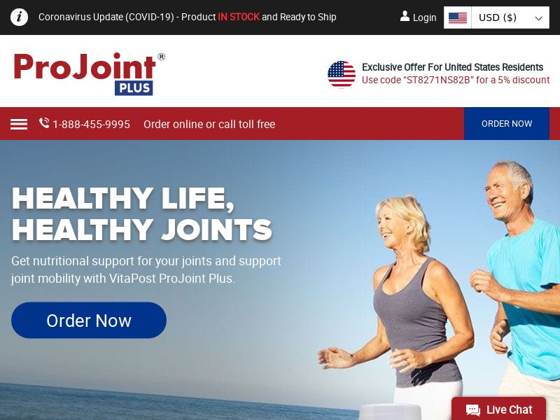 VitaPost ProJoint Plus | Natural Joint, Movement & Cartilage Supplement