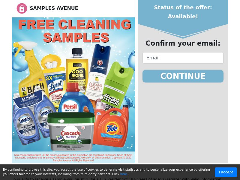 Free Cleaning products 2020