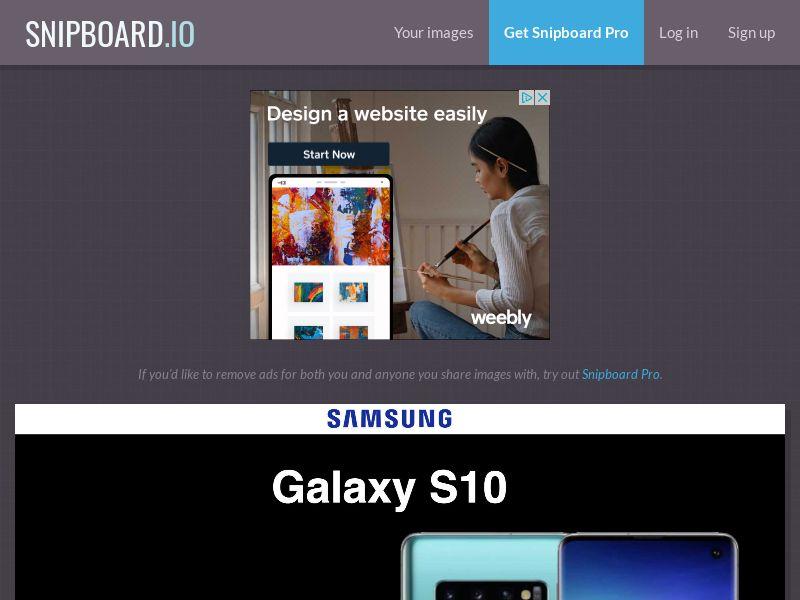 CoreSweeps - Samsung Galaxy S10 (Black) JP - CC Submit