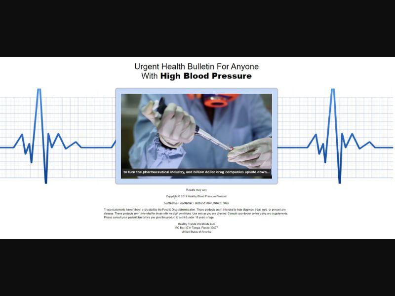 Healthy Blood Pressure Protocol - VSL - Health - SS - [US, AU, NZ, IE, CA, UK]