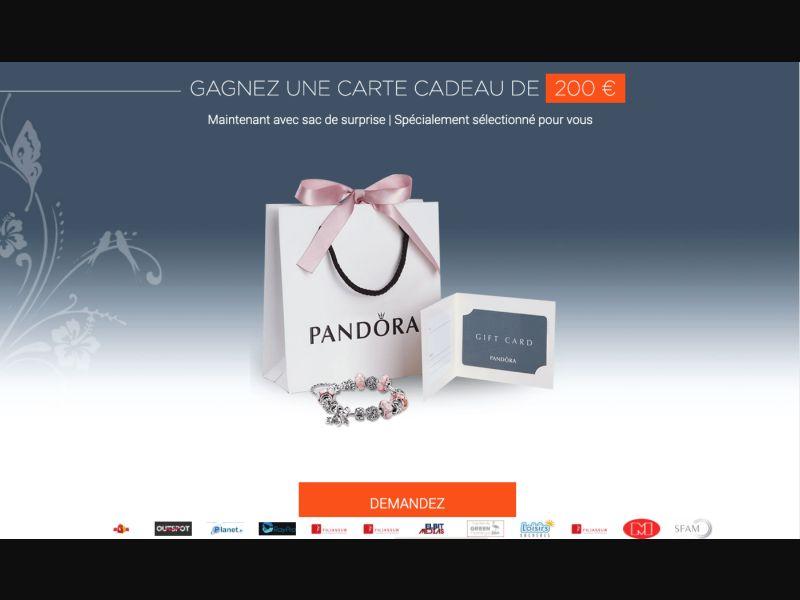 Pandora - CPL SOI - FR - Sweepstakes - Responsive