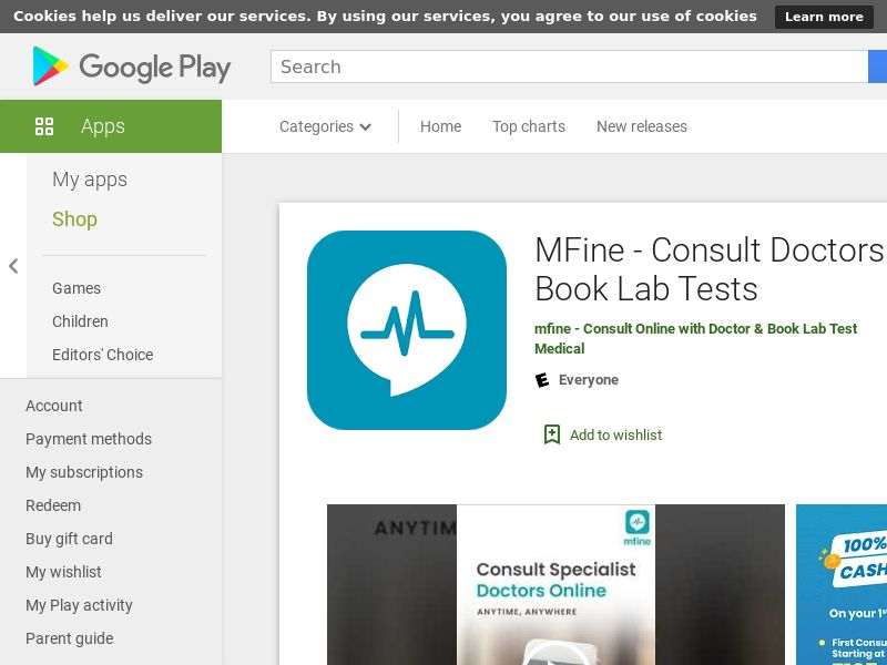 MFine: Consult Doctors Online - Android (IN) (KPI) (GAID) (App Name) (No Rebrokering)