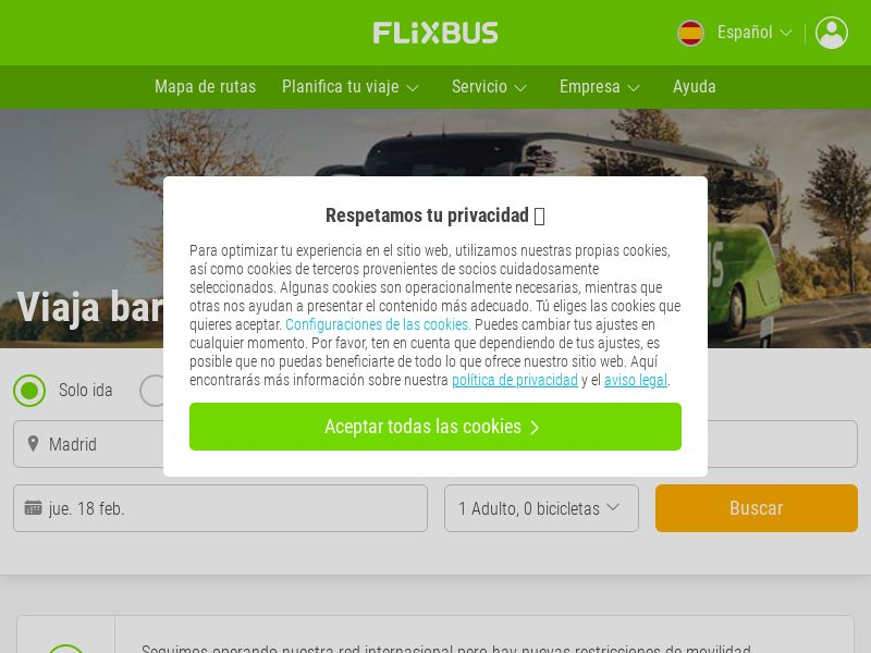 Flixbus - ES (ES), [CPS], Transport and Travel, Transport, Sell, holiday