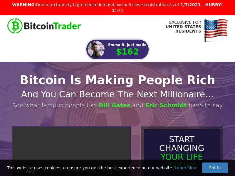 Bitcoin Trader - Smartlink - 57 Countries