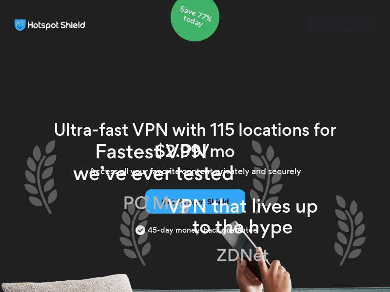 [Desktop Only] Hotspot Shield - VPN - CPA - [INTERNATIONAL]