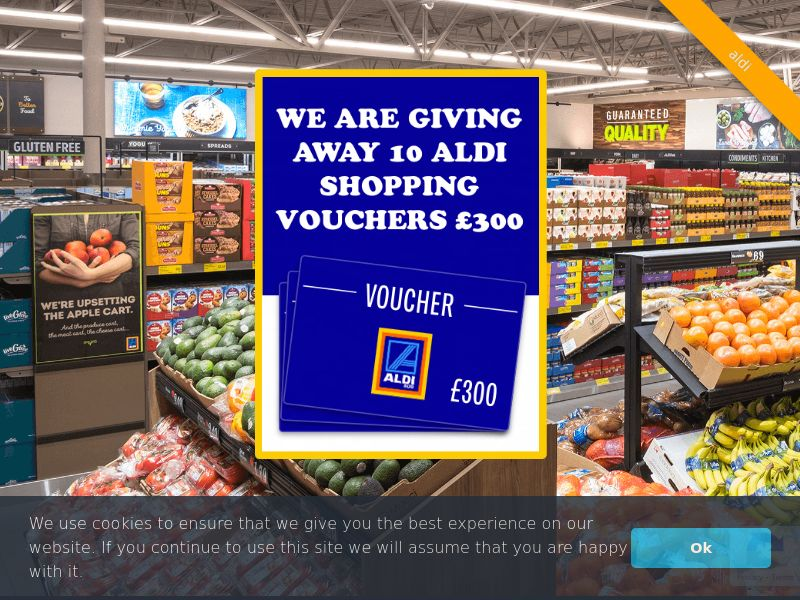 Aldi - UK (GB), [CPL], Fashion, Clothes, Health and Beauty, Food, Lotteries and Contests, Single Opt-In, shop, gift, coronavirus, corona, virus, keto, diet, weight, fitness, face mask, paypal, survey, gift, gift card, free, amazon
