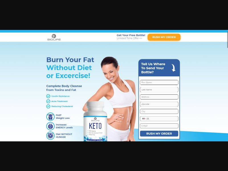 BioLife Keto - Diet & Weight Loss - Trial - [FR] - with 1-Click Upsell [Step1 $22.75 / Upsell $22.75]