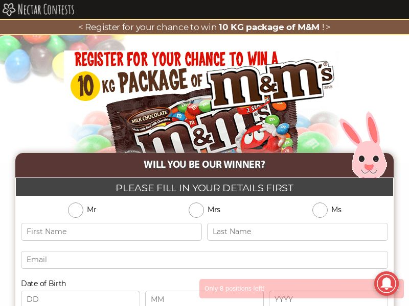 NectarContests - win 10 KG package of M&M [UK]