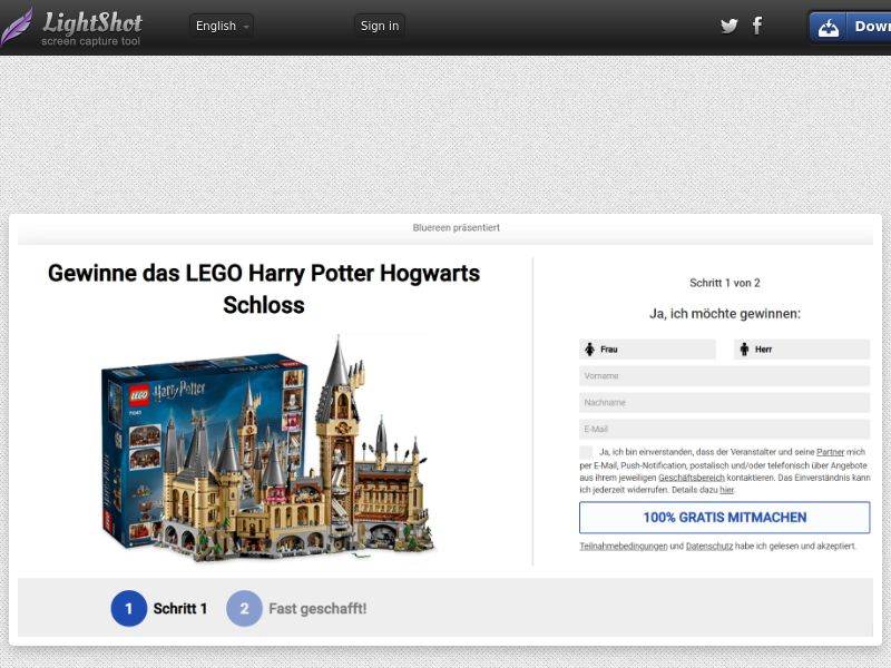 7Sections - Lego Harry Potter (DE, AT, CH) (CPL) (Personal Approval)