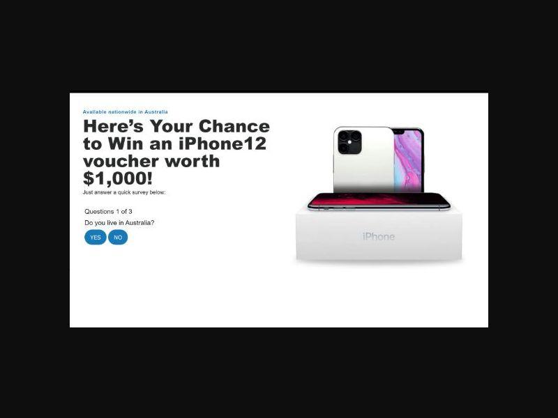 Aussie Prizes - Win an iPhone 12 (AU)