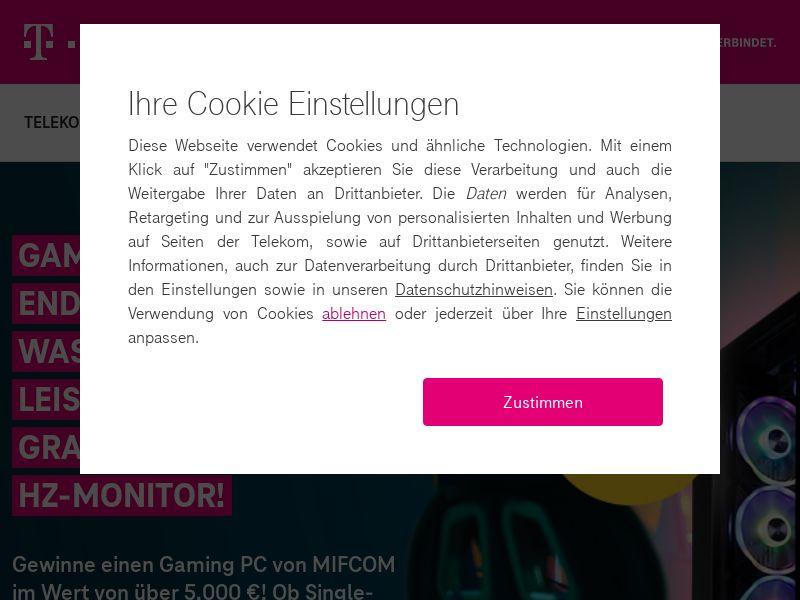 Deutsche Telekom - Win a Gaming PC - DE