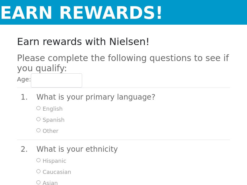 Earn Rewards Surveys (US) (CPL) (Incent) (Personal Approval)