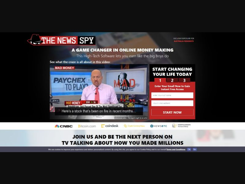 News Spy - $250 min CTC - VSL - Biz Opp - SS - [51 GEOs]