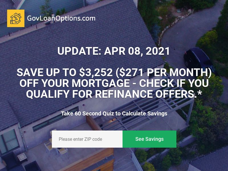 Govloanoptions.com - Mortgage Refinance - CPL - [US]