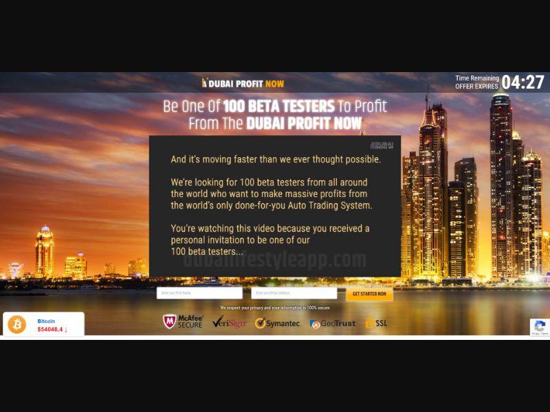 Dubai Profit Now - $250 min CTC - VSL - Biz Opp - SS - [AU, UK, SG, HK, IT, DE, ES]