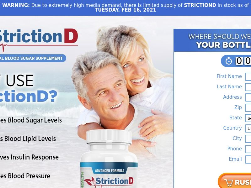 Striction D Blood Sugar - Trial - US (Email Only)