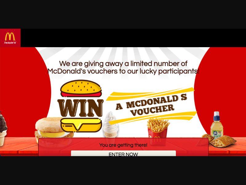 McDonalds - CPL SOI - SG - Sweepstakes - Responsive