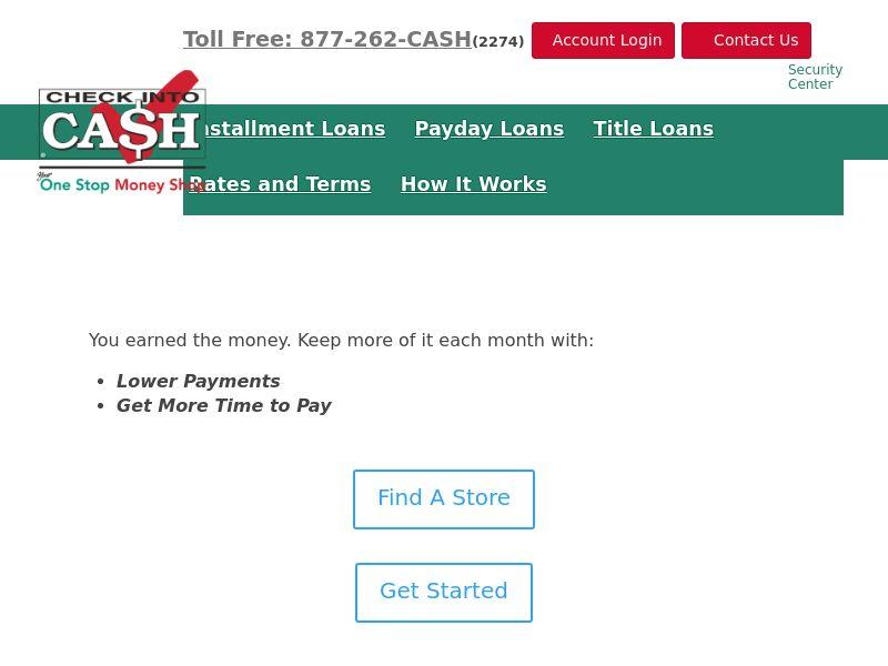 Check into Cash | US