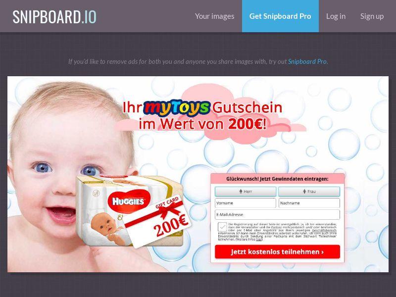 WinMarketing - MyToys Huggies (DE) (CPL) (Personal Approval)