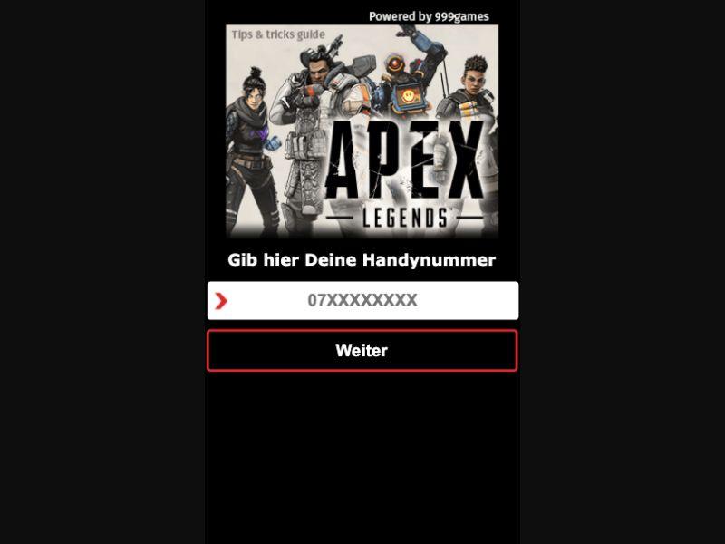 Apex Legends - SMS Flow - CH - Online Games - Mobile