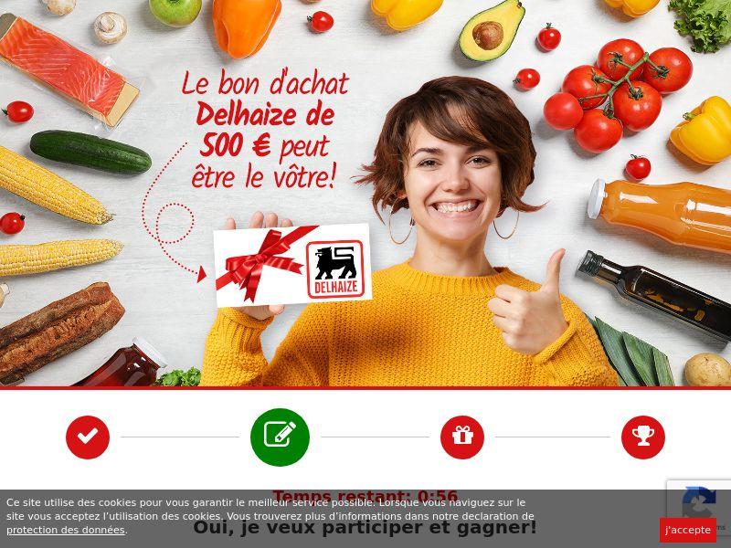 12080) [WEB+WAP] Delhaize Supermarket voucher 500€ - BE(fr) - CPL