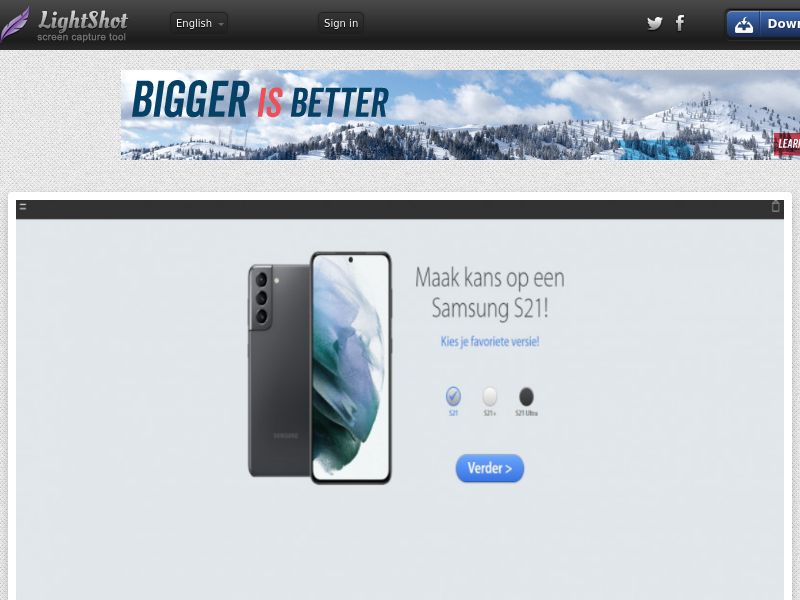 Onlinewinaction - Samsung S21 (NL) (CPL) (Personal Approval)