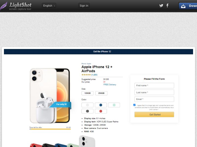 Socialmediago - Apple iPhone 12 + AirPods (IT) (Trial) (Personal Approval)