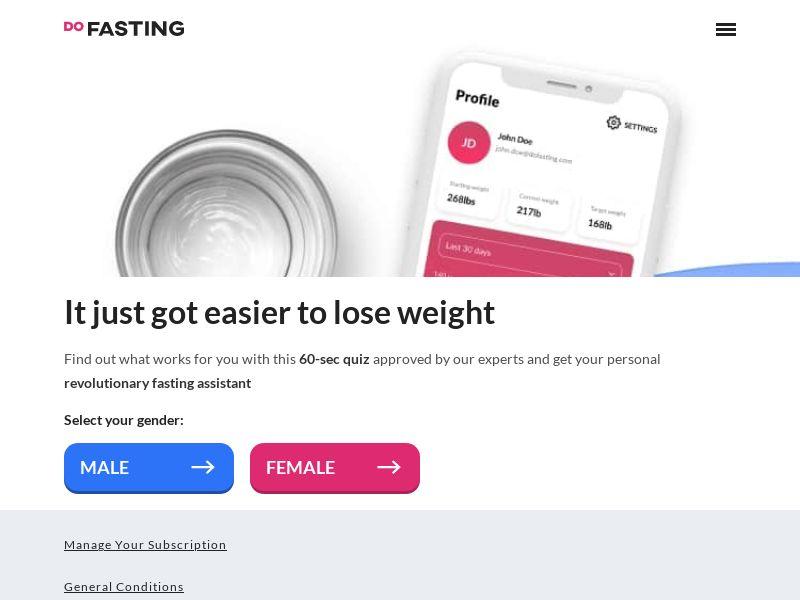 DoFasting - App for intermittent fasting - CPA - [INTERNATIONAL]