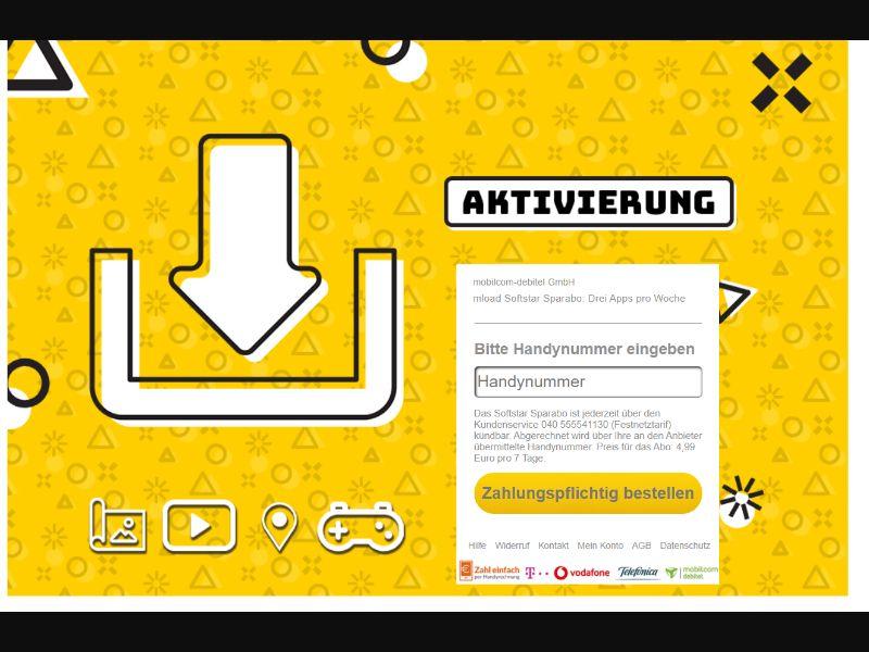 Activation Cartoon Yellow DE   PIN Submit