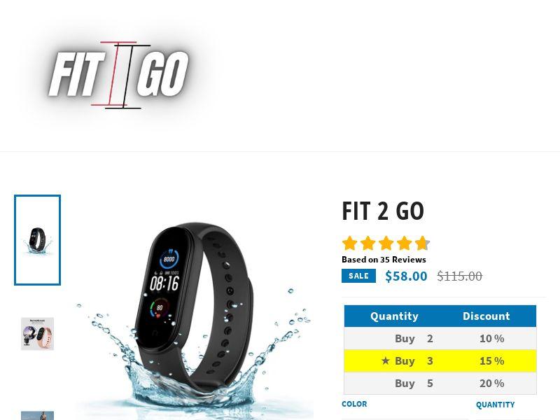 Fit2Go - Wearable Tech Fitness Bracelet - CPA - [22 GEOs]
