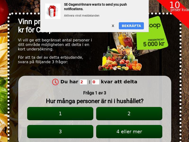Coop Voucher Sweeps - SE
