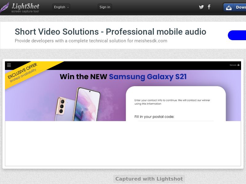 YouSweeps - Win Samsung Galaxy S21 (UK) (CPL) (Personal Approval)