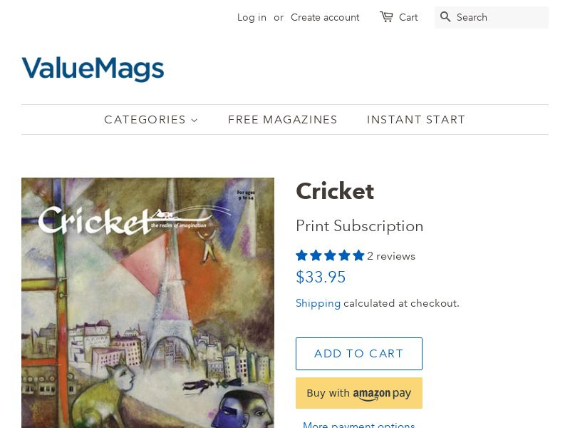 Discount Cricket Magazine Subscription for Kids | US