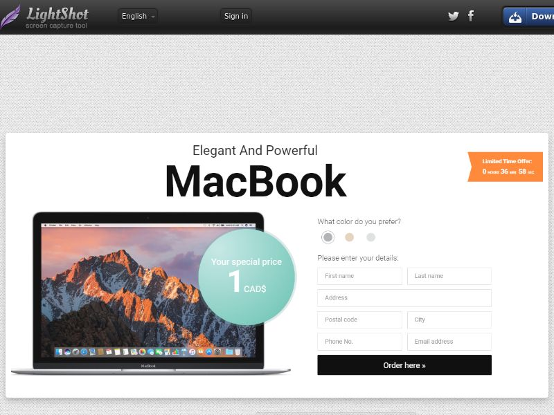 winlotsofthings MacBook 3 Colors (Sweepstake) (CC Trial) - Canada