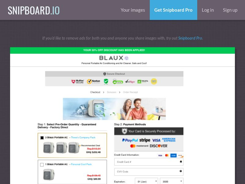 37497 - ALL - E-Commerce - Blaux Personal Air Conditioner - SS