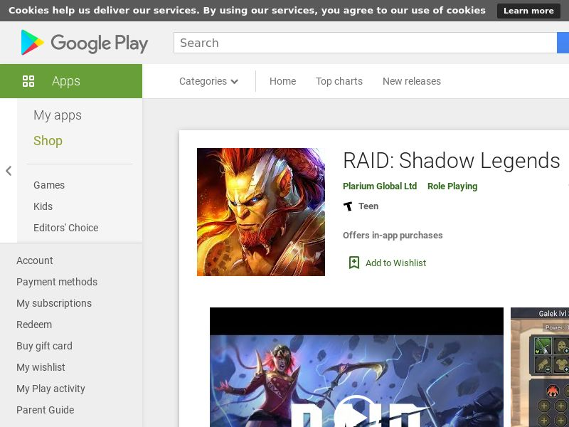 RAID: Shadow Legends - Android CPE | Multi-Geo