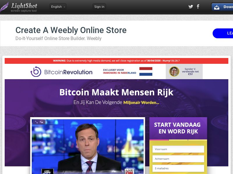 Bitcoin Revolution CPA UK, CA, BE, NL, PL, NG without redirect
