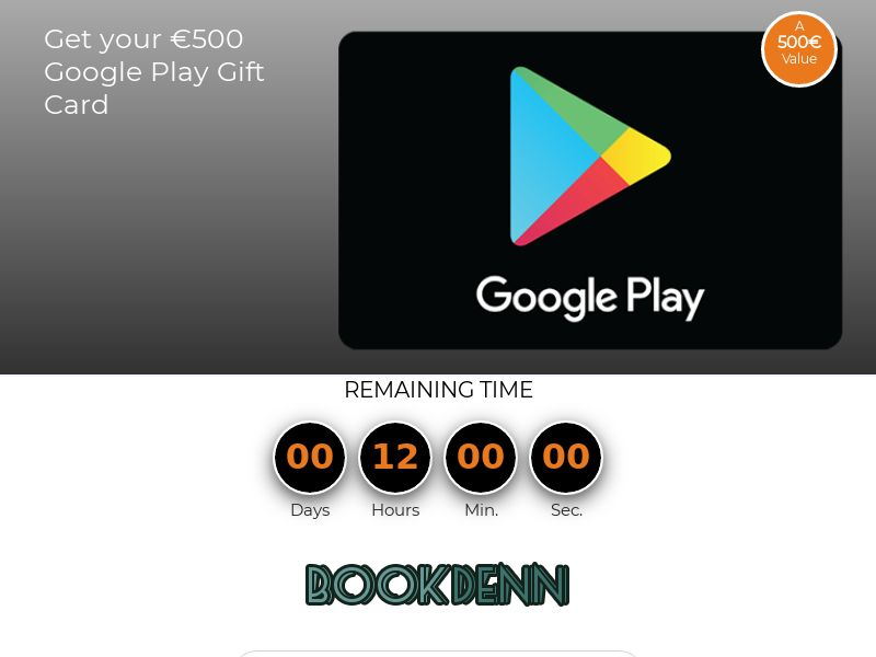 Google Play Gift Card 500€ [NZ] | CC-Submit| Responsive