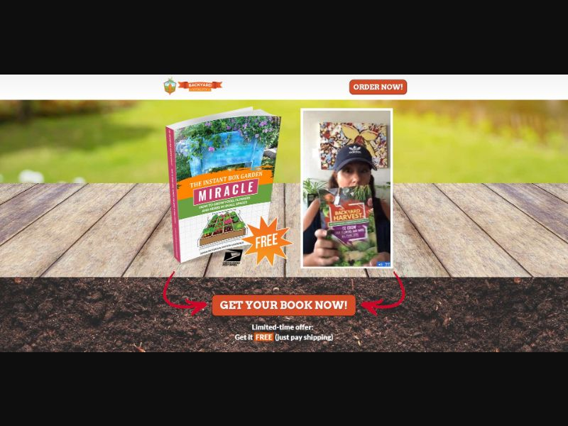 Backyard Vitality Instant Box Garden Miracle Book - VSL - eComm / Other - Trial - [US]