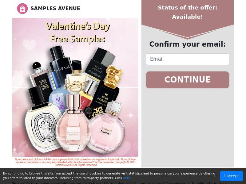 Samples Avenue Valentine's Day Samples 2020 - US (CPL) SOI