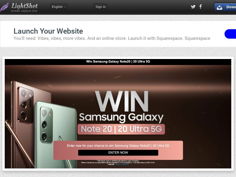 Samsung Galaxy Note 20 - MY