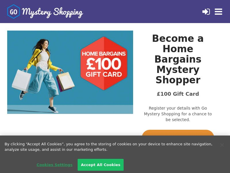 Go Mystery Shopping - Receive £100 to be a Home Bargains Mystery Shopper CPL [UK]